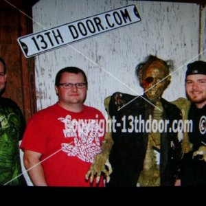 "1 of 3 Haunts on our annual ""Haunted Road Trip"" 2011 ( I'm on the left)."