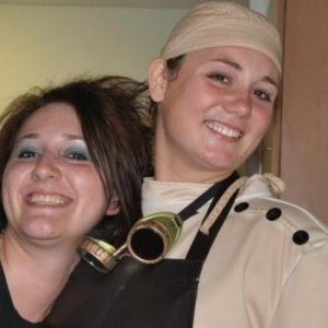 Myself and a friend at my Halloween shindig in 2011