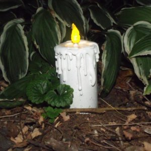 PVC candle after being outside and running for over 2 months of weather testing.