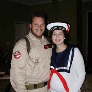 My wife was pregnant, so we went as a Ghostbuster and Stay Puft Marshmallow Man