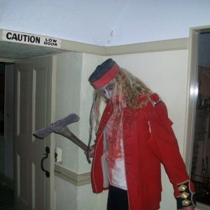 Fort Fright in Kingston 2009, this actor was at Scarefest promoting his goth photography.  Room 52?