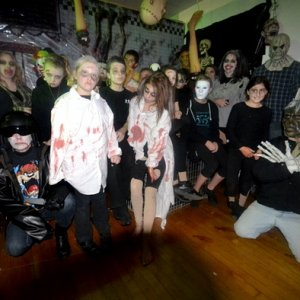 Most of our 2011 Haunt Cast Gathers In The Butcher's Kitchen for a Group Photo