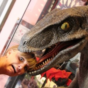 Universal Hollywood Horror make-up lobby raptor