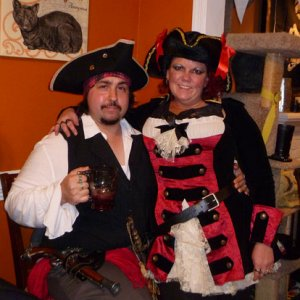 wife & I in our piratical glory