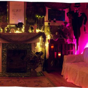 Panorama of living room (unfortunately, forgot to turn on the lights all the way right! )
