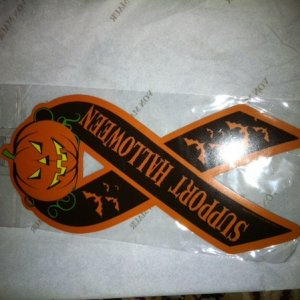 Support Halloween magnetic ribbon
