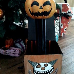 "Nightmare Before Christmas: Jack-in-the-box/Jack-o-lanturn Seen during the ""Making Christmas"" song"