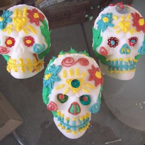 day of the dead skulls I made