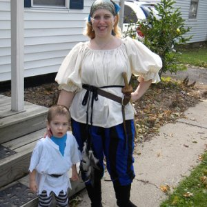 These were actually for the local Ren Faire, but I liked them as our pirate costumes.
