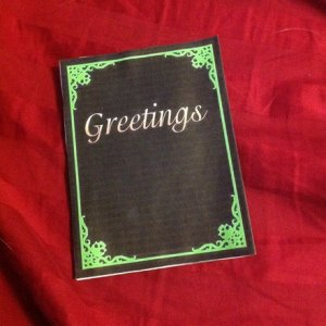 as stated in the letter she made this card from a printable template. I have to say the effect was bat asp.