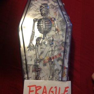 fragile...my mind was racing. what is inside of this wonderful little coffin box?