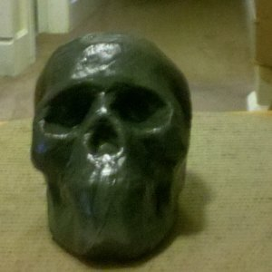 Another paper mache skull
