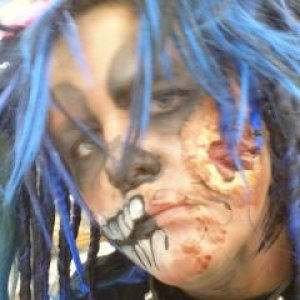 close up of face for haunted house