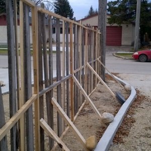 Construction of the fence