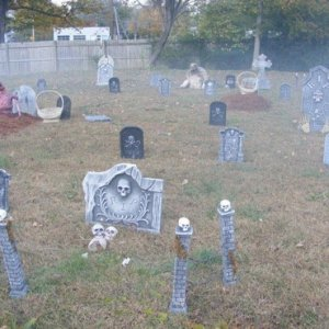 2011 Halloween Just a few of my props and graves