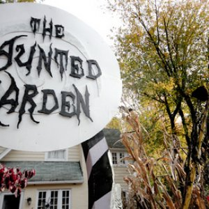 The Haunted Garden sign