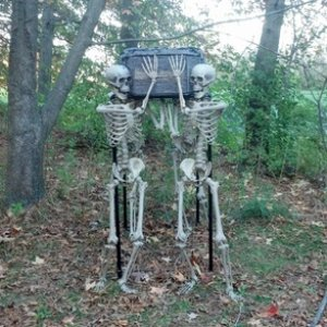 Haunted Hike set up