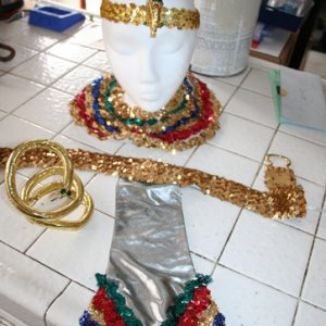 Egyptian costume pieces