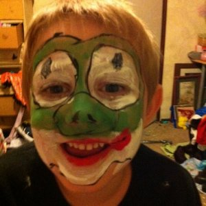 "my first tries doing facepainting Edward ""Yoshi"""