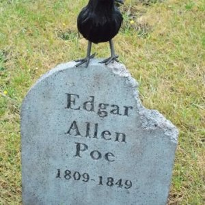 An added touch to Poe's stone from last year.