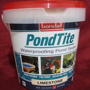 Pondtite (624x640) This is a product available in Australia. Sold in four colors; Limestone, Sandstone, Blue and Black.