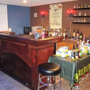 The Winchester tavern.  Found the Keep Calm and Kill Zombies poster behind the bar at www.posterrevolution.com
