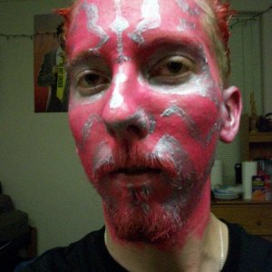 Detail on my Maul makeup