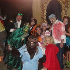 Storyland crew-The Giant, Snow White, 3rd Lil Pig, Fairy, Frog Prince, Repunzel, Lil Miss Muffet, The Wolf and Red Riding Hood.