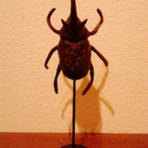 Metal beetle on stand from Pottery Barn