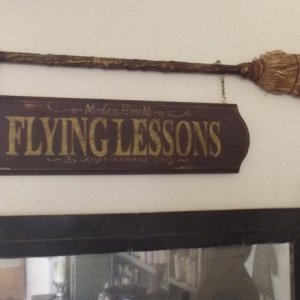 Madam Hooch's Flying Lessons sign A Harry Potter inspired prop I made.