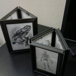 Lanterns - unlit: (DT frames taped together)