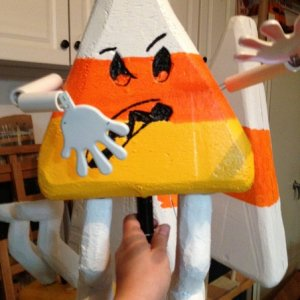 One member of our candy corn army