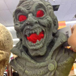 CVS, 2013. Only saw the vampire on the shelf. Plaster like material. Try Me button. 19.99