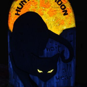 Hunter's Moon - tombstone for my Secret Reapee's love of black cats.