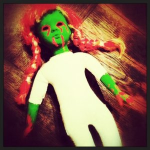 Green Baby - Stil have no idea how all these dolls will go into the theme/party but oh well. hahah