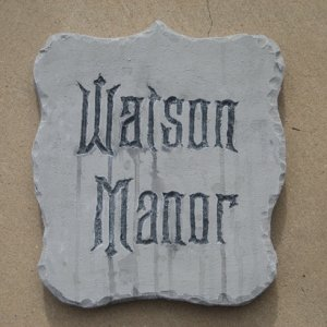 Watson Manor plaque -blue foam