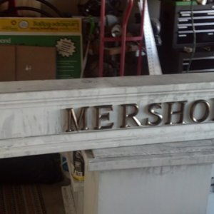 The Mershon beam almost done. I have to age the lettering now.