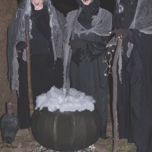 witches with new cauldron