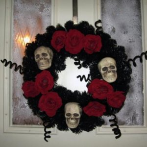 The wreath I made, similar to one at Lillian Vernon.