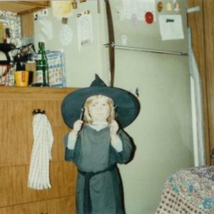 Halloween 1984 Me as a witch (2 years old).