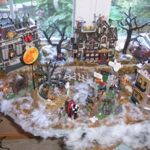 This is the top level left side of my Spooky Town display.