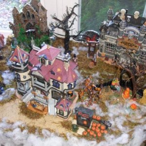 This is the top level right side of my Spooky Town display.
