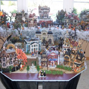 This is the full shot of my Spooky Town display.