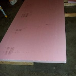 This is the pink styrofoam that I used to cover the frame.