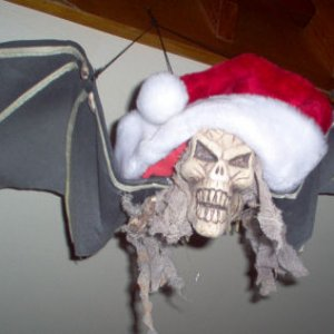 Winged demon Santa