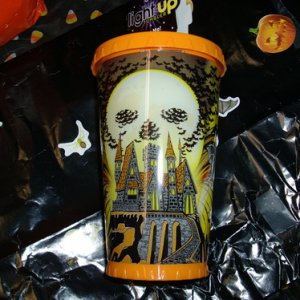 Halloween tumbler that lights up (looks like lightning flashes)