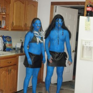 Me and Ryan as Jake & Neytiri from Avatar