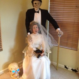 2013  wedding decaying couple. Ada & Morty.