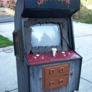 The full Splatterhouse arcade game with everything put together
