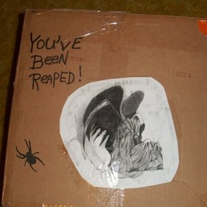 002  here is one side of the box decorated by bethene, my secret reaper, 2013